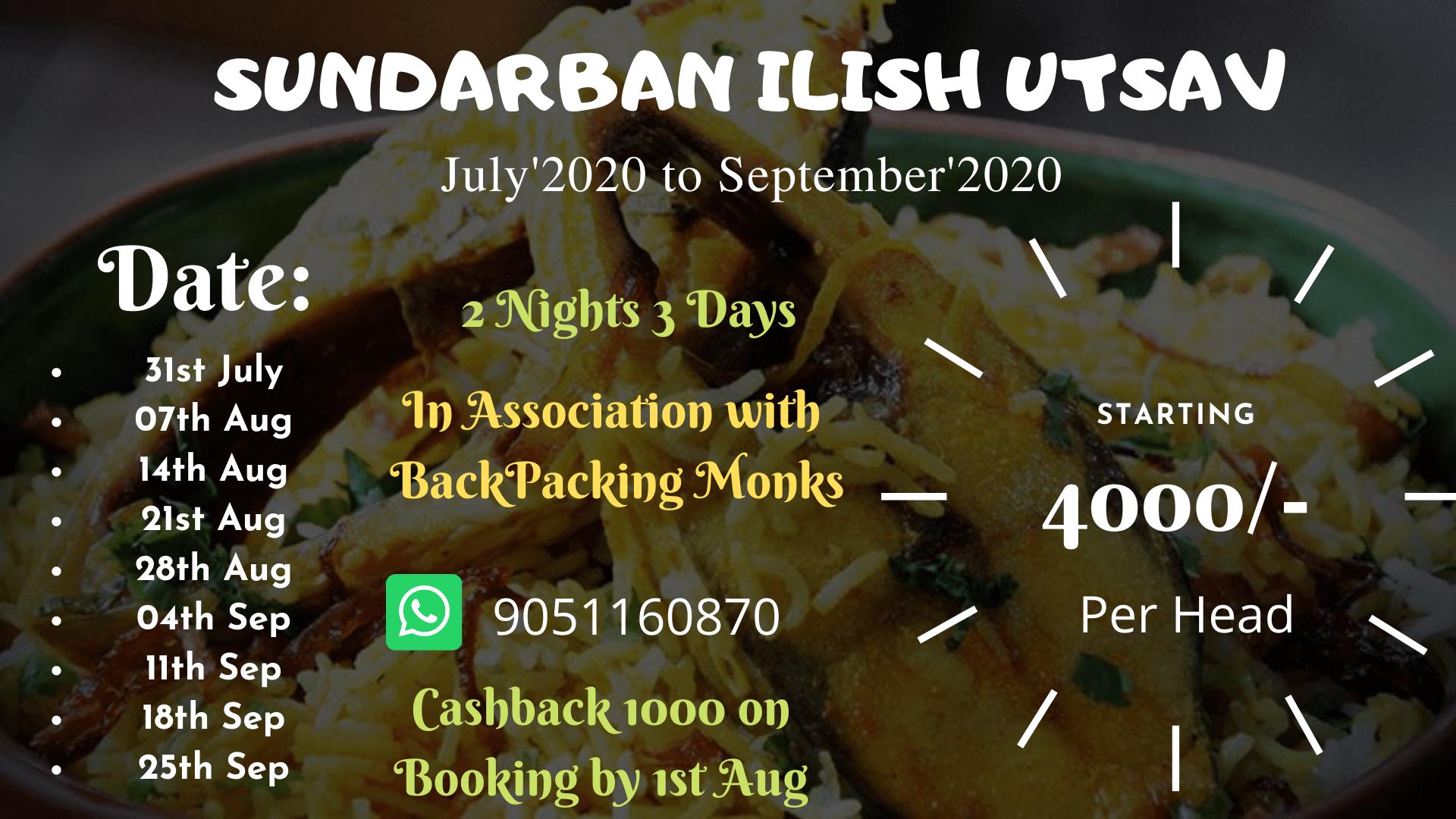 SUNDARBAN ILISH UTSAV 2020. 1000 Cashback.